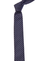 Givenchy - Blue & White Dot Silk Tie - Lyst