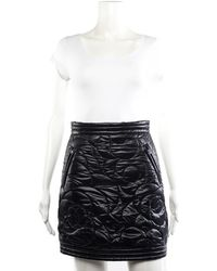 Chanel - 2018 Black Quilted Nylon Coco Neige Camellia Skirt (size 34, Nwt) - Lyst