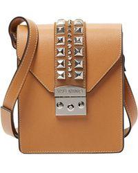 Valentino By Mario Valentino - Bridgette Palmellato Leather Shoulder Bag - Lyst