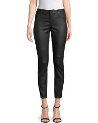Joe's Jeans - Leather Charlie Ankle Trousers - Lyst