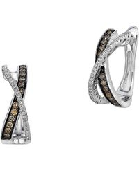Le Vian - Chocolatier® Gladiator® Chocolate & Vanilla Diamond® Hoop Earrings - Lyst