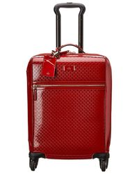 Gucci - Red GG Imprime Suitcase - Lyst