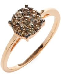 Suzanne Kalan | 14k Rose Gold Champagne Diamond Cluster Ring | Lyst