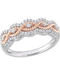 Rina Limor - 10k Rose Gold & Diamond Ring - Lyst
