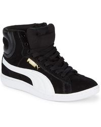 PUMA - Vikky Suede Mid-top Trainers - Lyst