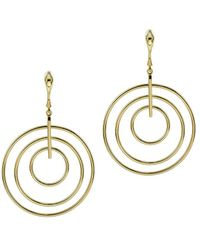 Argento Vivo - 18k Over Silver Multi Ring Drop Bar & Earrings - Lyst