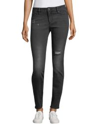 Armani Exchange - Distressed Skinny Jeans - Lyst