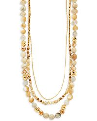 Chan Luu - Agate And Sterling Silver Multi-strand Necklace - Lyst
