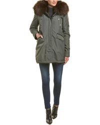 Nicole Benisti - Belleville Leather-trim Coat - Lyst