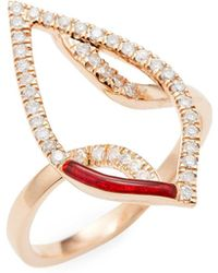 Artisan - Designer Red Enamel Ring - Lyst