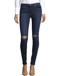 7 For All Mankind - Distressed Jeans - Lyst