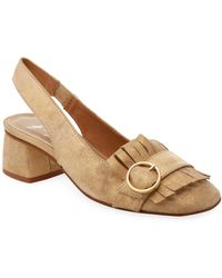 French Sole - Kilted Sling Back Pumps - Lyst
