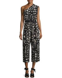 Tracy Reese - Printed Silk Jumpsuit - Lyst