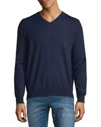 Thomas Dean - V-neck Merino Jumper - Lyst