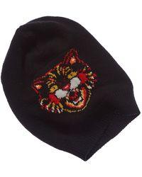 48deedae38d ... GG Supreme Baseball Hat.  350. Bergdorf Goodman · Gucci - Angry Cat  Wool Beanie - Lyst