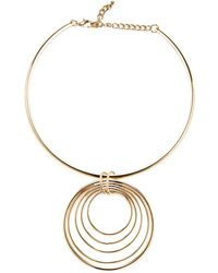 Kenneth Jay Lane - Multi-circle Pendant Necklace - Lyst