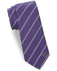 Versace - Dot Maze Silk Tie - Lyst
