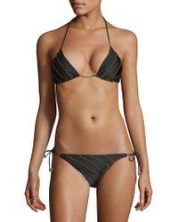 95f80c2266 Boohoo Maternity Daisy Bardot Ruffle Swimsuit in Black - Lyst