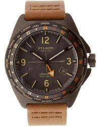 Filson - Journeyman Gmt Stainless Steel Watch, 44mm - Lyst