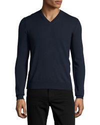 Burberry Brit - Wool V-neck Sweater - Lyst