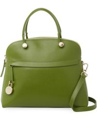 Furla - Piper M Dome Leather Satchel - Lyst