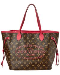 Louis Vuitton - Limited Edition Pink Ikat Flower Monogram Canvas Neverfull Mm - Lyst