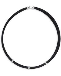 Alor - 18k White Gold Cable Necklace - Lyst
