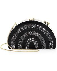 MILLY - Half-moon Striped Convertible Clutch - Lyst