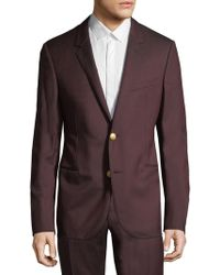 Lanvin - Wool Pinstripe Jacket - Lyst