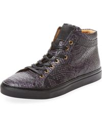 A'Louest - Napali Embossed Leather Hi-top - Lyst