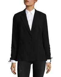 Saks Fifth Avenue Black - Lace-up Blazer - Lyst