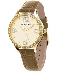 b5dc98b6e Stuhrling Original Stuhrling Women's Lady Coronet Watch in Metallic - Lyst