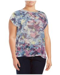 Vince Camuto - Glimmer Printed Top - Lyst