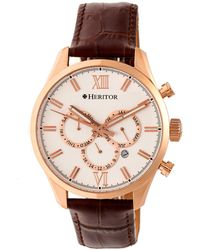 Heritor - Benedict Stainless Steel Silver Dial Watch, 40mm - Lyst