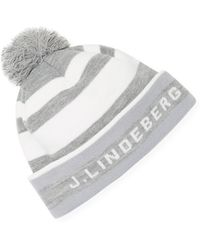 J.Lindeberg - Stripe Golf Beanie - Lyst