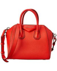 Lyst - Givenchy Antigona Small Tricolor Leather Satchel in Blue 761a6430322e5