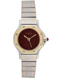 Cartier - Cartier 1980s Women's Santos Octagon Watch - Lyst