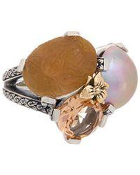 Stephen Dweck - 18k & Silver Gemstone & Pearl Ring - Lyst