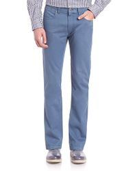 Saks Fifth Avenue - Sulfur Dyed Cotton Pants - Lyst