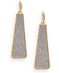 ABS By Allen Schwartz - Glitter Drop Earrings - Lyst