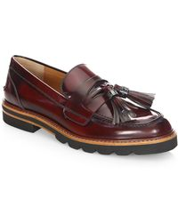 Stuart Weitzman - Manila Leather Loafers - Lyst