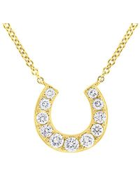 Diana M. Jewels - . Fine Jewelry 14k 0.36 Ct. Tw. Diamond Horseshoe Necklace - Lyst