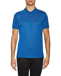 Lanvin - Solid Spread Collar Pique Polo Shirt - Lyst