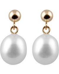 Splendid - 14k 8-8.5mm Freshwater Pearl Earrings - Lyst