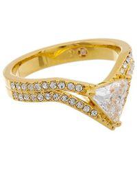 Nadri - 18k Plated Cz & Crystal Ring - Lyst