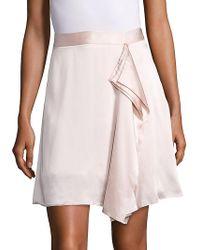 Public School - Gina Draped Silk Skirt - Lyst