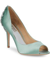Badgley Mischka - Nilla Embellished Stiletto Court Shoes - Lyst