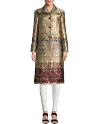 Valentino - Graphic Notch Lapel Coat - Lyst