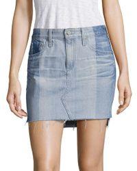AG Jeans - Sandy Colorblock Denim Mini Skirt - Lyst