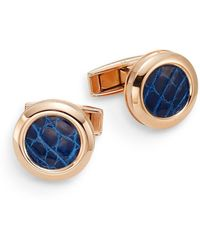 Colibri - Hampton Alligator & Rose Goldtone Stainless Steel Cuff Links - Lyst